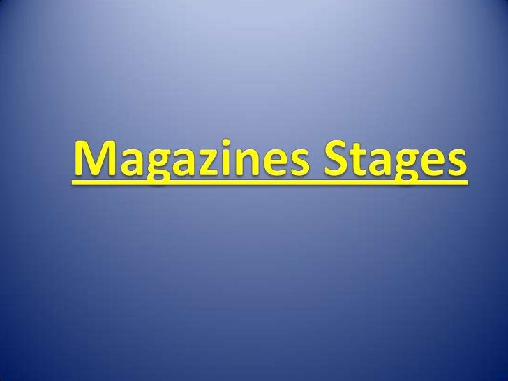 Magazines Stages<br />