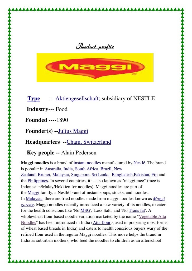 Pest analysis of maggi instant noodle