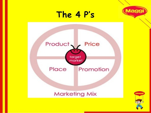marketing mix strategies for maggi Examples of this strategy will be given later in this case study  for example,  their global brands kitkat and maggi are very well adjusted to different markets.
