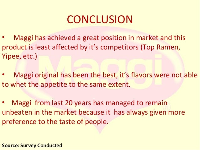 maggi market survey analys Download rics market surveys, monitors and analysis back to knowledge market surveys uk residential market survey analysis and discussion papers.