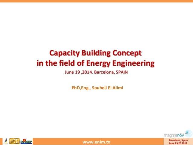 www.enim.tn   Barcelona,  Spain   June  19,20  2014   Capacity  Building  Concept     in  the  fiel...