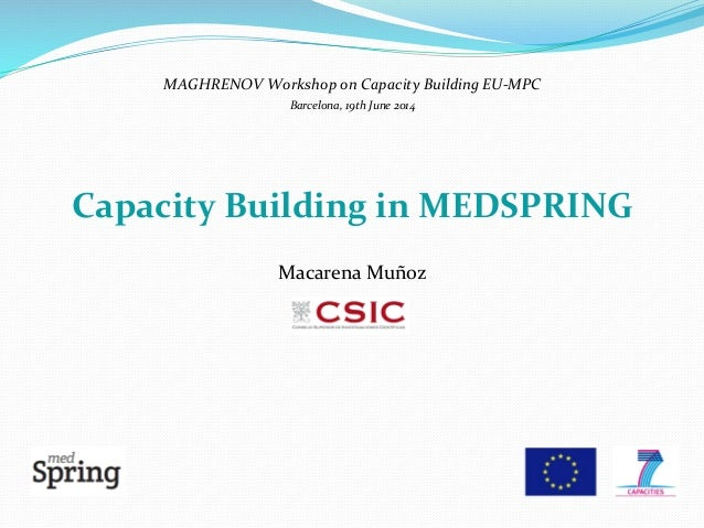 MAGHRENOV	   Workshop	   on	   Capacity	   Building	   EU-­‐MPC	    Barcelona,	   19th	   June	   2014	    	    	    Capac...