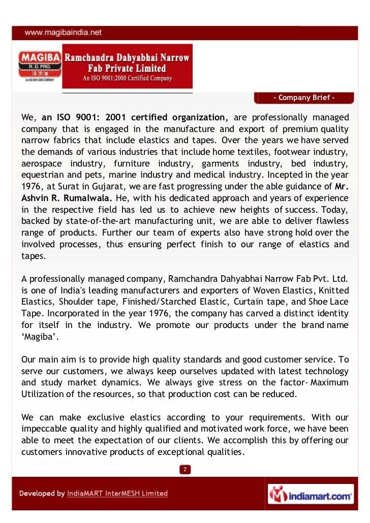 Ramchandra Dahyabhai Narrow Fab Private Limited, Surat, Knitted Elastics Slide 2