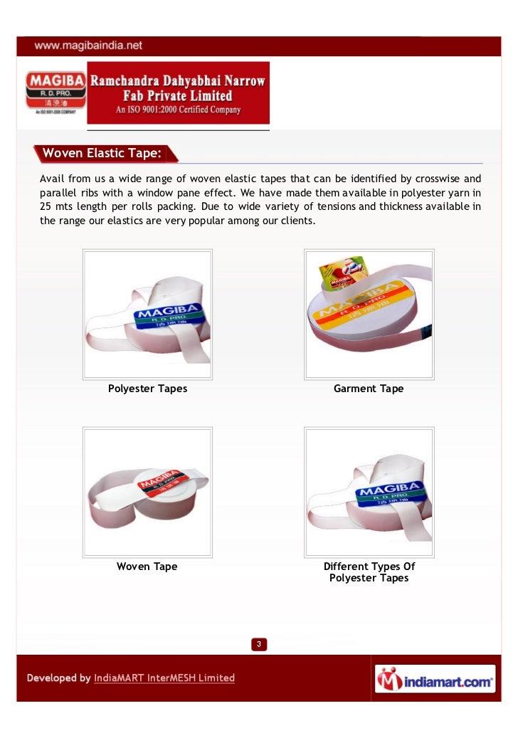 Ramchandra Dahyabhai Narrow Fab Private Limited, Surat, Knitted Elastics Slide 3