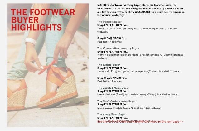February 2015 the buyers blueprint for magic how footwear buyers navigate wsamagic and fnplatform malvernweather Choice Image