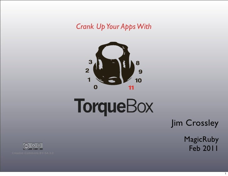 Crank Up Your Apps With                                                           Jim Crossley                            ...