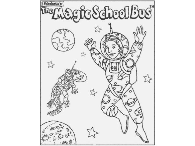 Magic school bus Colouring Pages and Kids Colouring Activities
