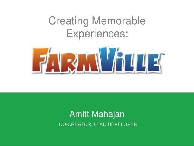 Creating Memorable Experiences: Amitt Mahajan