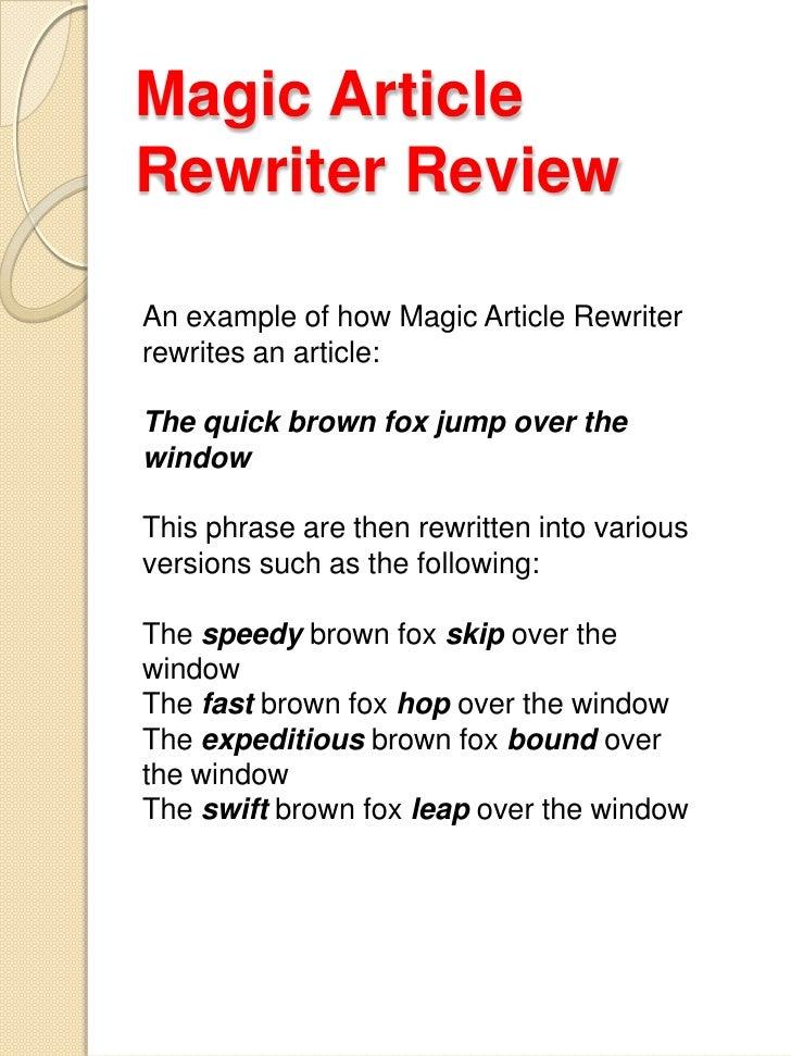 Article rewriter jobs