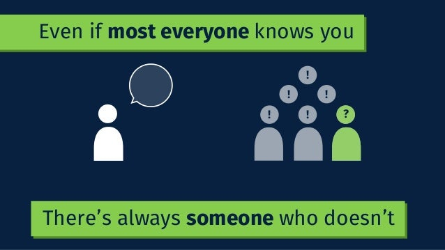 There's always someone who doesn't ! ! !! ! ? Even if most everyone knows you