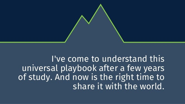 Playbook for a Successful Presentation: The 8 Basic Components of Every Great Speech Slide 3