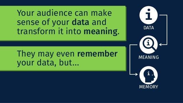 E' aperto il dibattito... come rendiamo data, meaning, memory e action? Your audience can make sense of your data and tran...