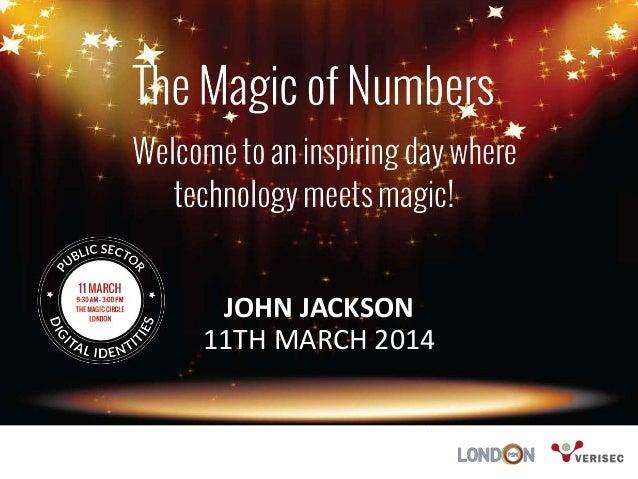 JOHN JACKSON 11TH MARCH 2014