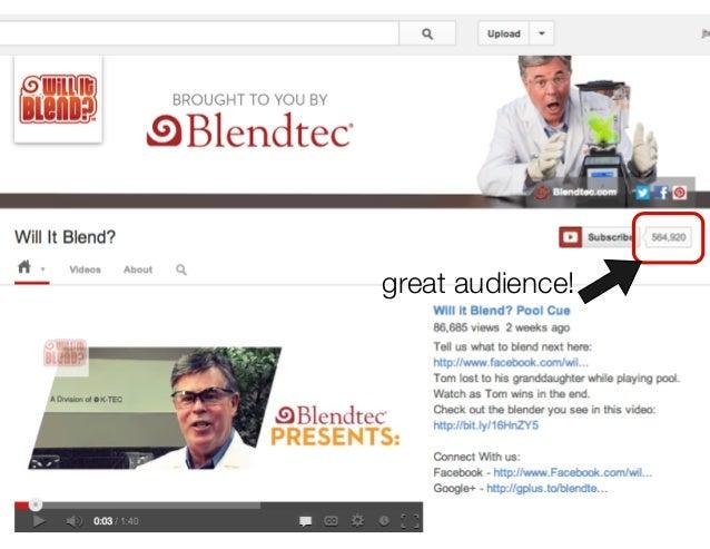 """Blendtec's """"Will it Blend?"""" iPad episode 15,666,175 viewshttp://www.youtube.com/watch?v=lAl28d6tbko                  enter..."""