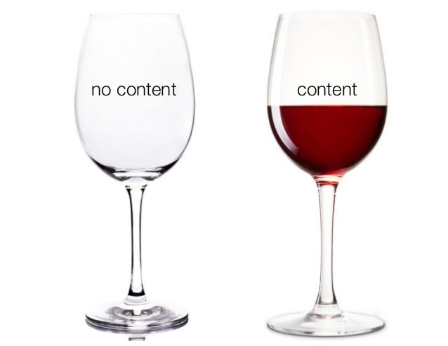 A social platform without content is like a glass without                         wine. (And yes, the glass enhances the b...