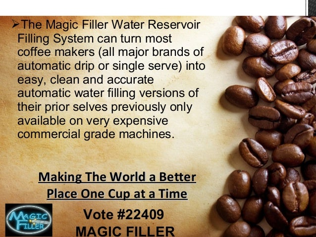 Magic Filler Coffee Maker Water Reservoir Kit