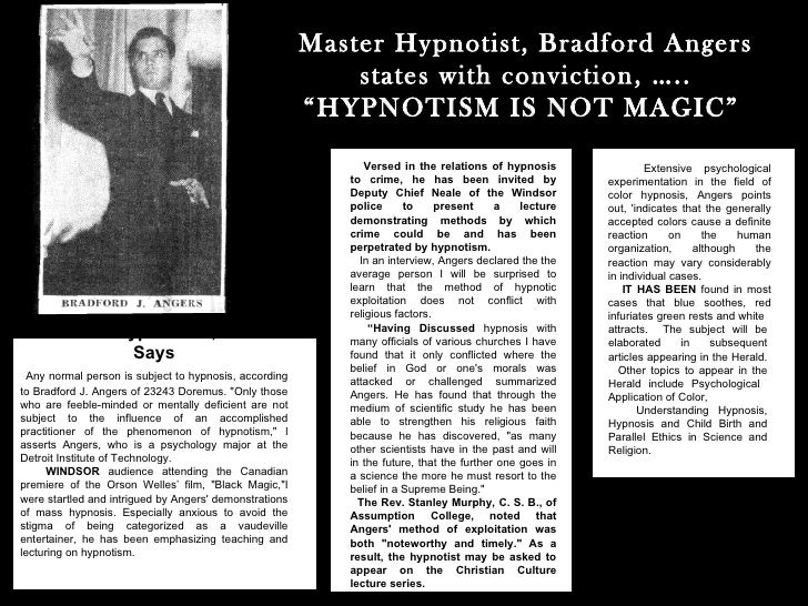 Magic & hypnosis