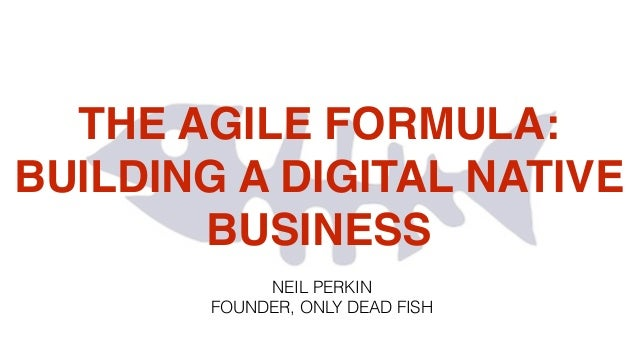 THE AGILE FORMULA: BUILDING A DIGITAL NATIVE BUSINESS NEIL PERKIN FOUNDER, ONLY DEAD FISH