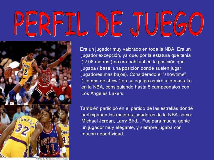 <ul><li>Era un jugador muy valorado en toda la NBA. Era un jugador excepción, ya que, por la estatura que tenia ( 2,06 met...