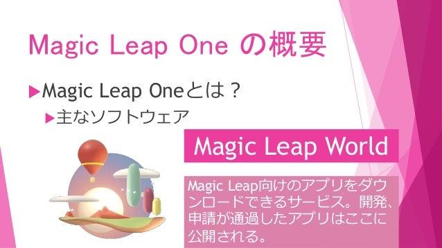 Magic Leap One の概要 Magic Leap Oneとは? 主なソフトウェア Helio Web XRをサポートし ています。