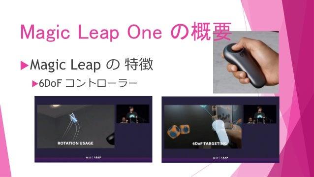 Magic Leap One の概要 Magic Leap の 特徴 ハンドトラッキング(指、手の甲、手首… )