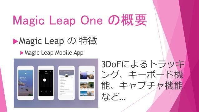 Magic Leap Oneアプリケーションの 開発について
