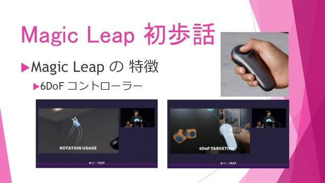 Magic Leap 初歩話 Magic Leap の 特徴 6DoF コントローラー