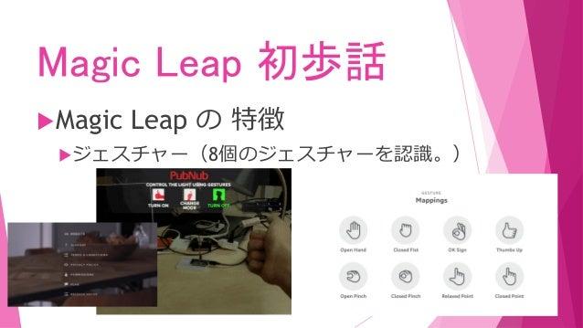 Magic Leap 初歩話 Magic Leap の 特徴 ジェスチャー(8個のジェスチャーを認識。)