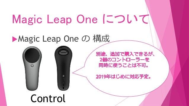 Magic Leap One について Magic Leap One の 構成 Control