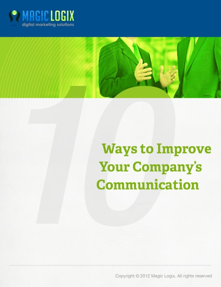 10 ways to improve your company's communication by Magic logix