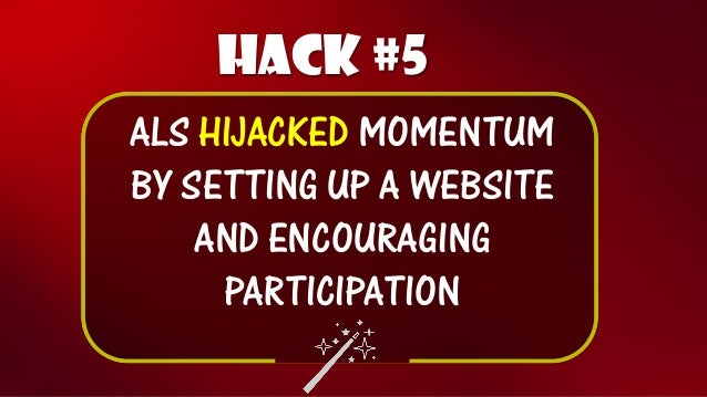 Hack #6  APPEAL CAMPAIGN TO CELEBRITIES WITH STAKE IN OUTCOME