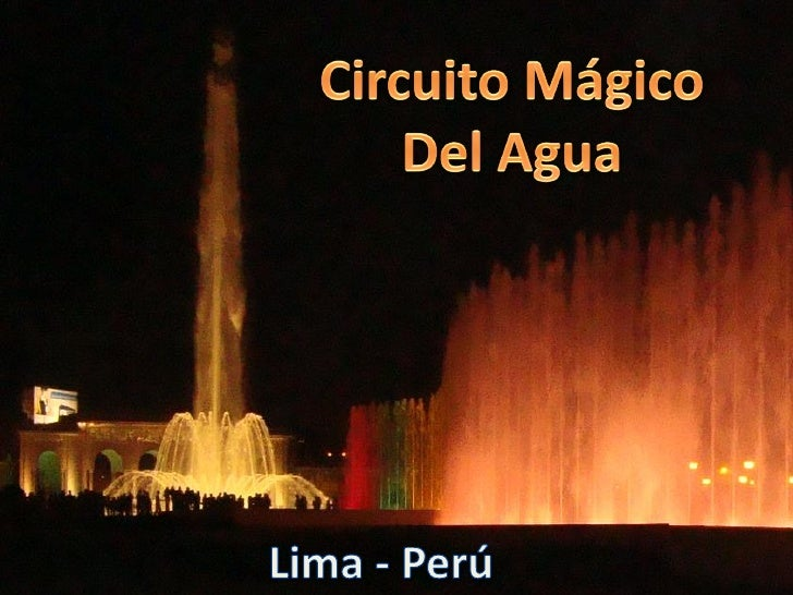 Circuito Magico Del Agua : Circuito magico del agua