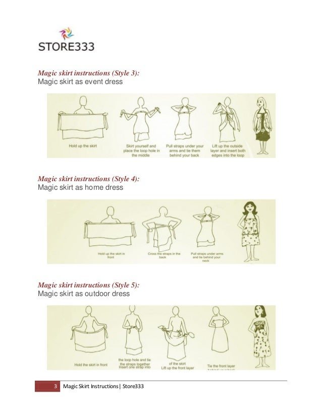 Magic Skirts Instructions