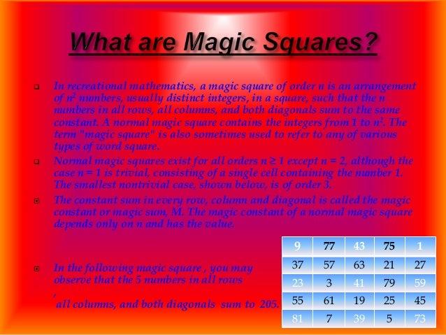 Magic square