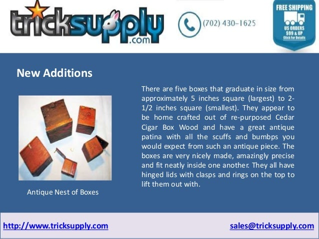 Have a look at New Additions of Magic Supply Slide 3