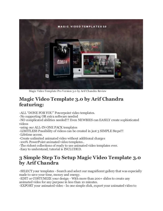 Magic video template pro 3 review and download by arif chandra without hiring professional 3 magic video template toneelgroepblik