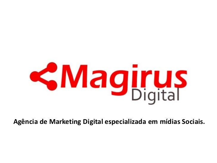 LogotipoAgência de Marketing Digital especializada em mídias Sociais.