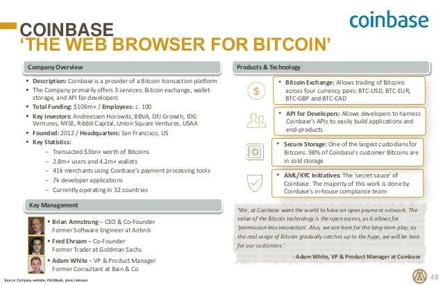 Magister advisors blockchain presentation products