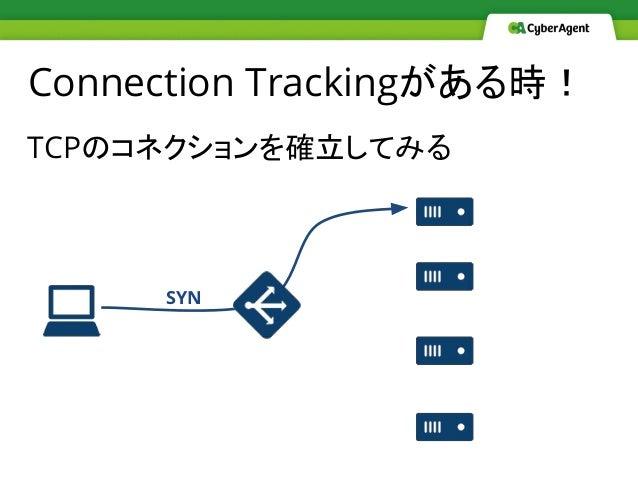 Connection Trackingがある時! TCPのコネクションを確立してみる SYN