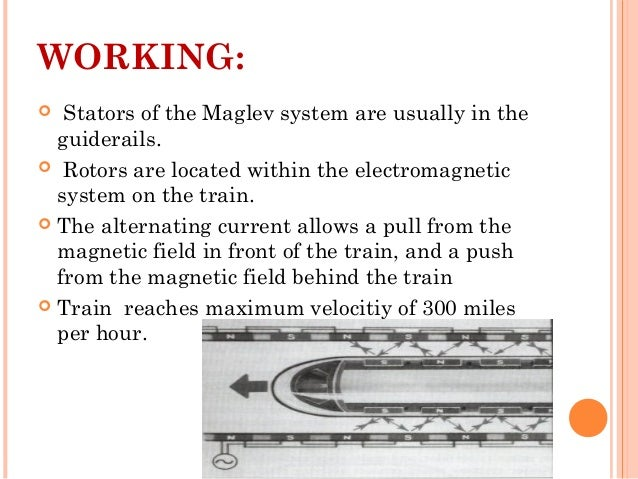 MAGLEV TRAIN (Train that floats in the air)