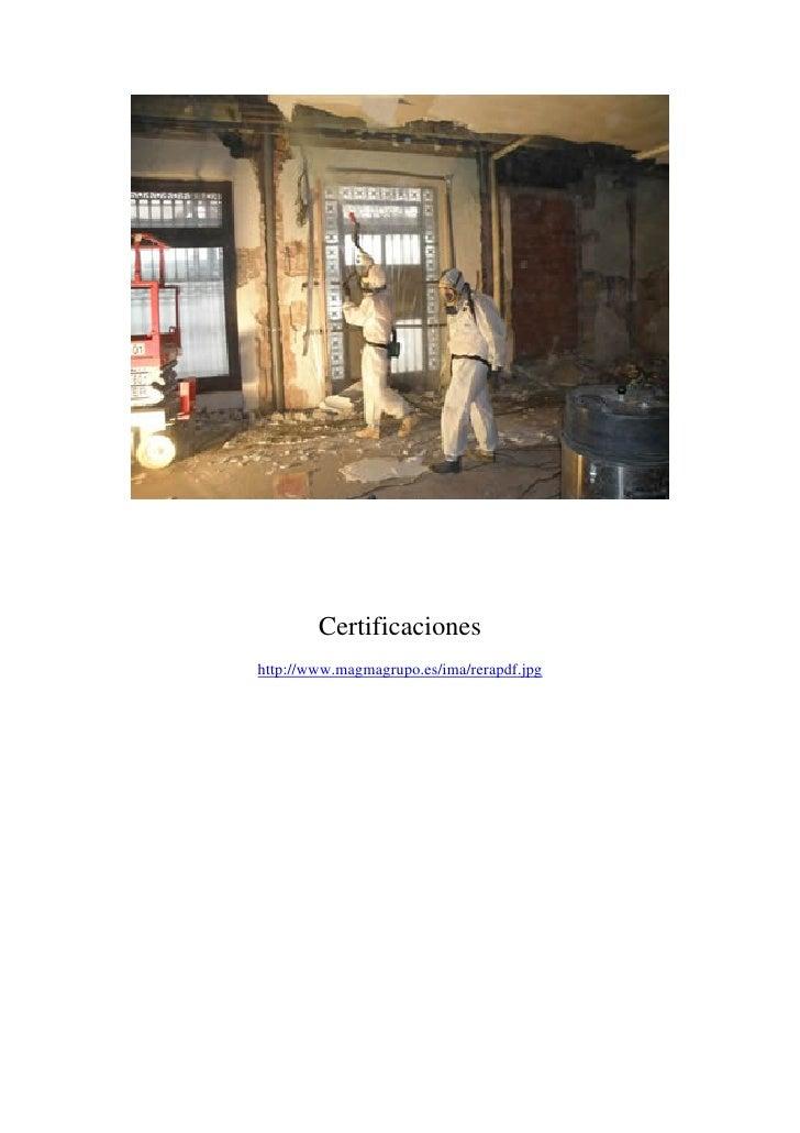 Magma Gestión Medioambiental. Gestión de amianto. Visita www.magmagrupo.es
