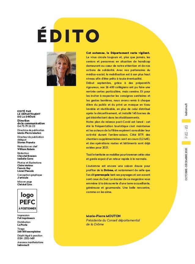 La Drôme – Le Magazine n°5 (octobre-décembre 2020) Slide 3