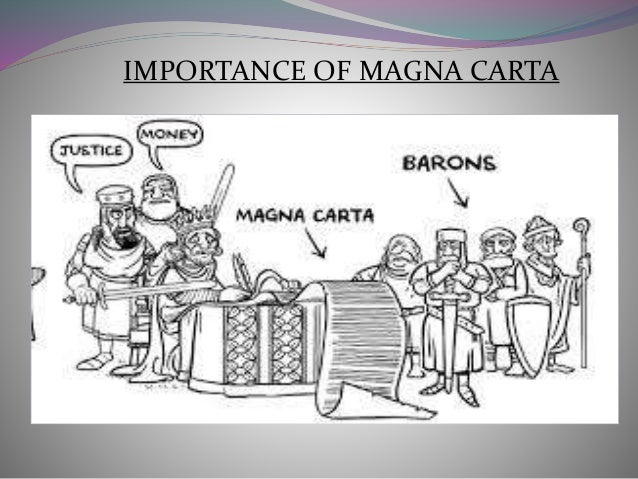 what was typically the necessity involving the actual magna carta