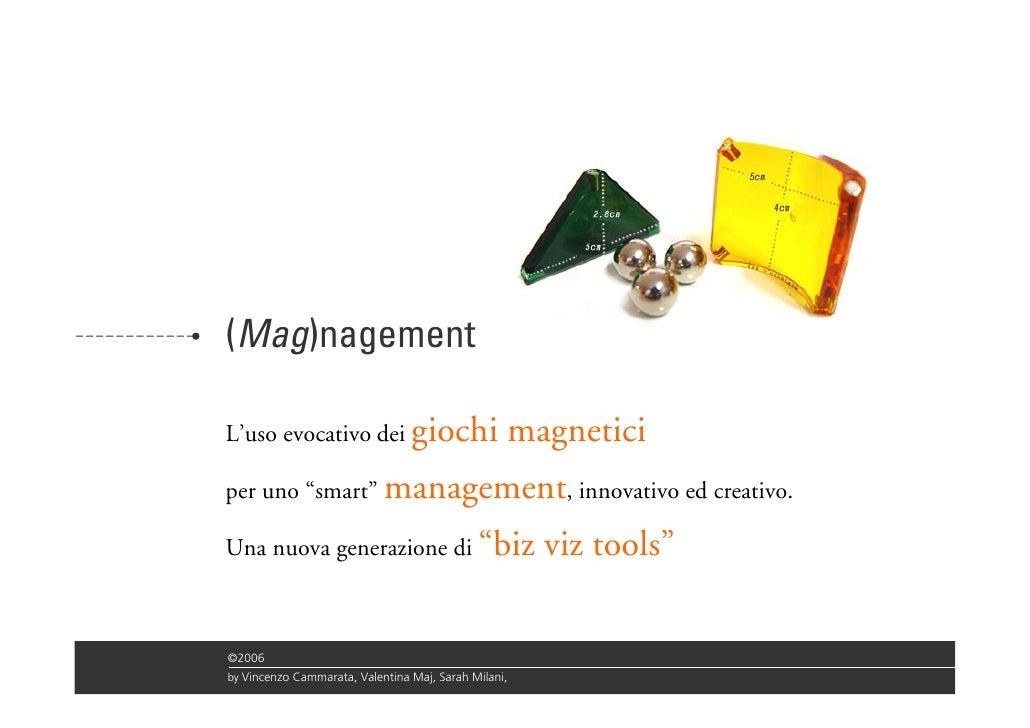 """(Mag)nagement  L'uso evocativo dei giochi                        magnetici per uno """"smart"""" management, innovativo ed creat..."""