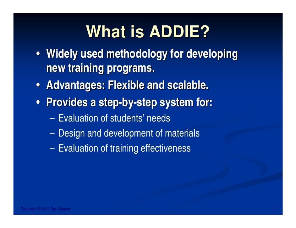 Ray Magnan Instructional Design Basics The Addie Model