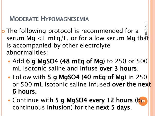 Magnesium disorder in critically ill patients