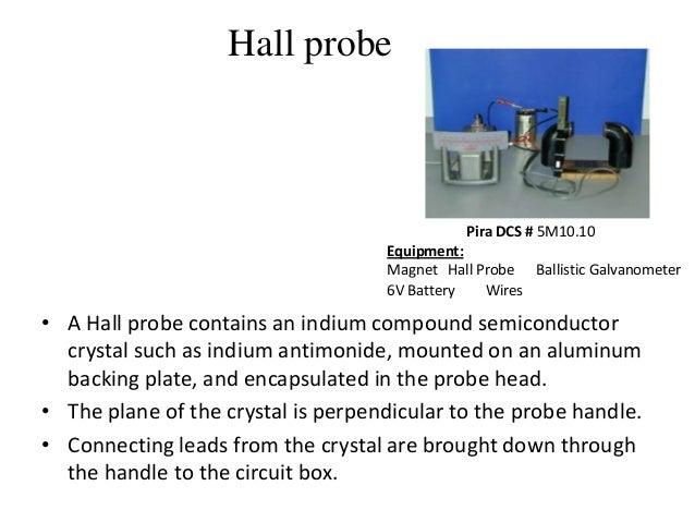 Hall Effect Current Probe : Magnetic hall effect based sensors final