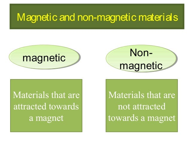Magnetic And Non Magnetic