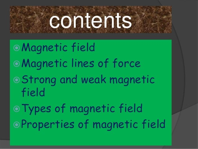 Magnetic field Slide 2