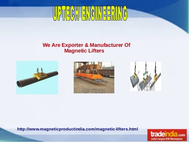 We Are Exporter & Manufacturer Of Magnetic Lifters http://www.magneticproductindia.com/magnetic-lifters.html